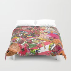 Of the Hare Meadow Duvet Cover