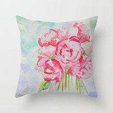 Fluers Fraiches Flower  Throw Pillow