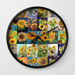 Sunflowers Montage Wall Clock