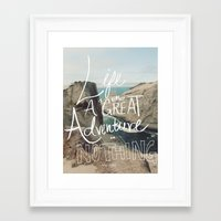 adventure Framed Art Prints featuring Great Adventure by Leah Flores