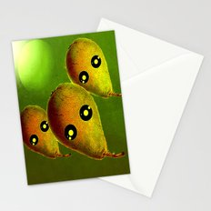 The arrival of pears aliens Stationery Cards