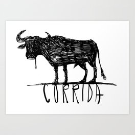 bullfighting corrida Art Print