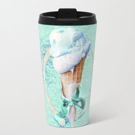 Blue Sugar Icecream Cone Travel Mug