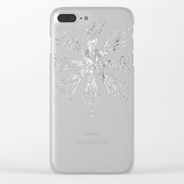 Silver Snowflake Design Clear iPhone Case