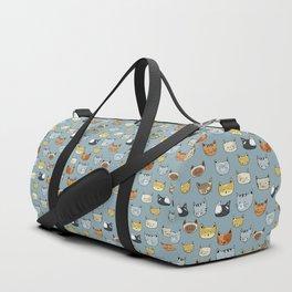 Cat Face Doodle Pattern Duffle Bag