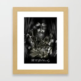 The Inkpot Monkey Framed Art Print