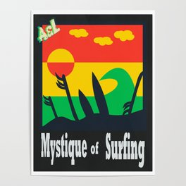 Mystique of surfing Poster