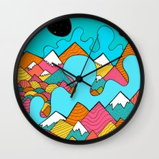 Splash of the mountains  Wall Clock