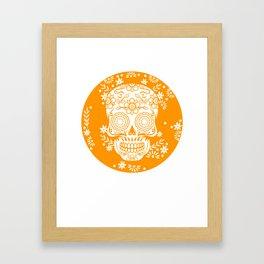 Sugar Skull Calavera print Gift for Mexican Decor Lovers Framed Art Print
