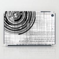 data iPad Cases featuring Techno data ring #1 by Juliana RW