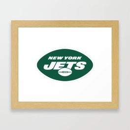 NYJ Logo Framed Art Print