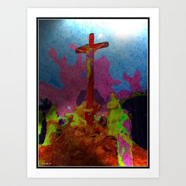 Abstract Cross Art Print