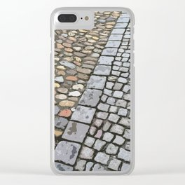 Walking on Art in the Cobblestones Clear iPhone Case
