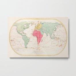 Mathieu Albert Lotter - Mappe Monde ou Carte générale de l'Univers Metal Print