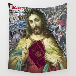Jesus loves Refugees Wall Tapestry