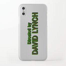Directed by David Lynch Clear iPhone Case