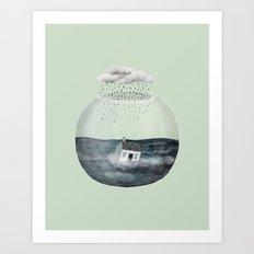 Glass Bowl House Art Print