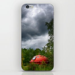 UFO in the woods iPhone Skin