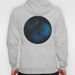 Blue Planet on White Background Hoody