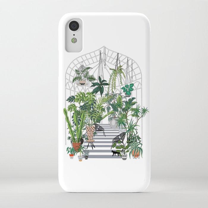 greenhouse illustration iphone case
