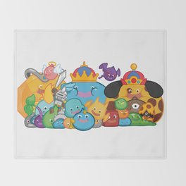 Slime Family Throw Blanket
