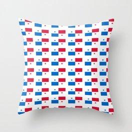 flag of panama 2 -Panama,Panamanian,canal,spanish,San Miguelito,Tocumen,latine,central america,panam Throw Pillow