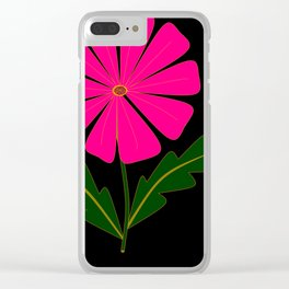 Big Pink Flower Clear iPhone Case