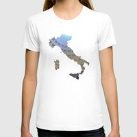italy T-shirts featuring Italy by Isabel Moreno-Garcia