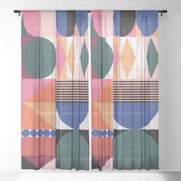 Geometric Festival Sheer Curtain