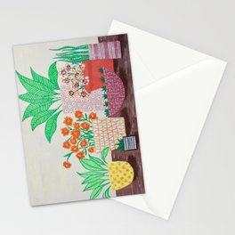 Plants in Printed Pots Stationery Cards