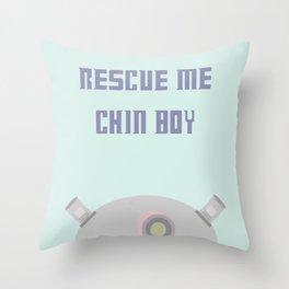 Rescue Me Chin Boy Throw Pillow