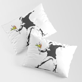 Love Is In The Air (Flower Thrower) - Banksy Graffiti Pillow Sham