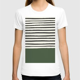 Forest Green x Stripes T-shirt