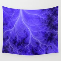 lightning Wall Tapestries featuring Lightning Nebula   by Kirsten Star