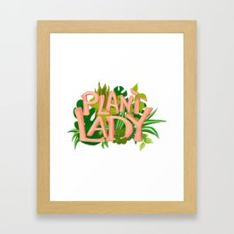Plant Lady Framed Art Print