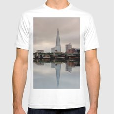 Reflections of the Shard White Mens Fitted Tee MEDIUM