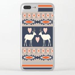 Romantic deer Clear iPhone Case