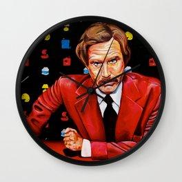 Papa Burgundy Wall Clock