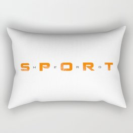 Sport Hero Dynamic Style Orange Rectangular Pillow