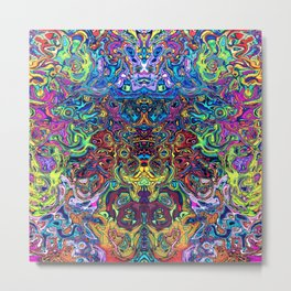 Abstract digital elephant Metal Print