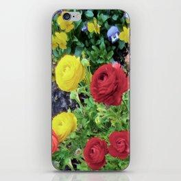 Ranunculus and Violas iPhone Skin