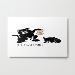 """Catnip Time"" Metal Print"