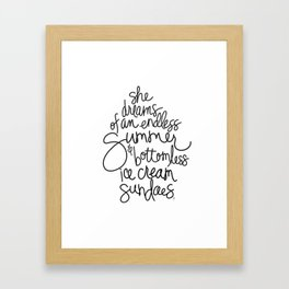 Endless Summers and Bottomless Ice Cream Sundaes by Jessica Kirkland Framed Art Print