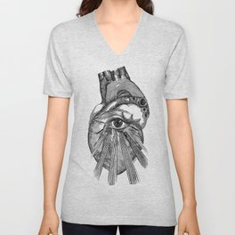 Engraving - Eyed Heart Unisex V-Neck