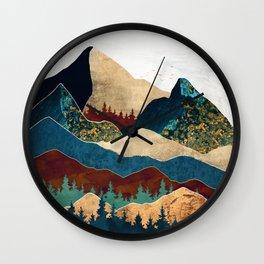 Malachite Mountains Wall Clock
