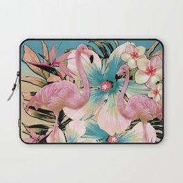 Vintage Flamingo Aloha Laptop Sleeve