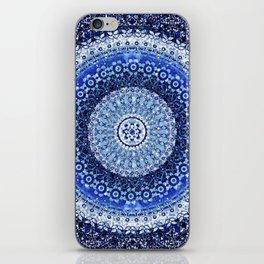 Cobalt Tapestry Mandala iPhone Skin