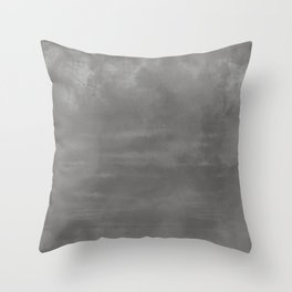Burst of Color Pantone Pewter Abstract Watercolor Blend Throw Pillow