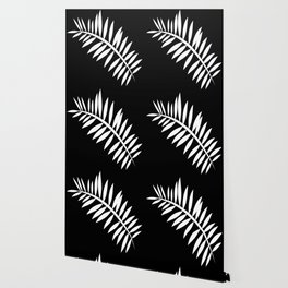 PALM LEAF WHITE LEAF Wallpaper