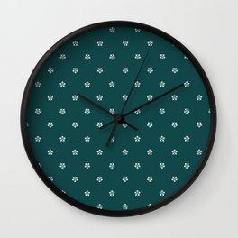 bavarian dirndl flowers green Wall Clock